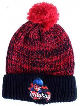 Dívčí čepice Ladybug - Kouzelná beruška - červená