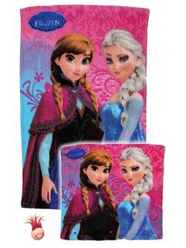 Set bavlněných ručníků na obličej a na ruce Ledové království (Frozen)