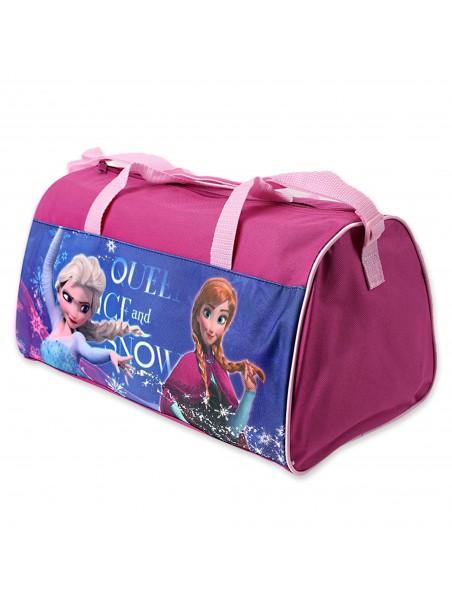 Sportovní taška Ledové království (Frozen) - tm. růžová