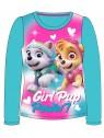 Dívčí tričko s dlouhým rukávem Tlapková patrola - modré
