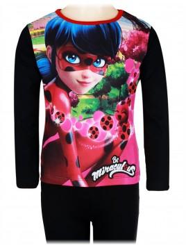Dívčí pyžamo Kouzelná beruška (Ladybug) - černé