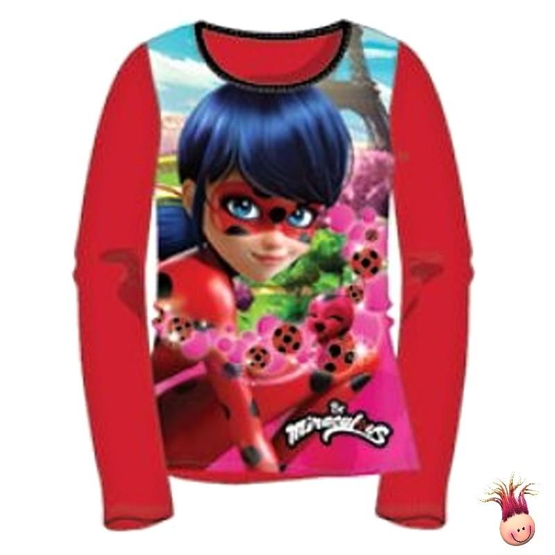 daae297a5a56 ... Dívčí pyžamo Kouzelná beruška (Ladybug) - červené ...