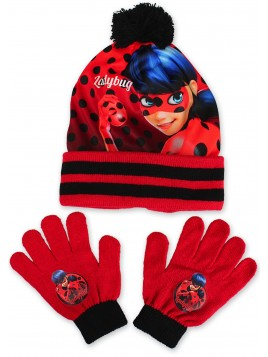 Dívčí čepice a prstové rukavice Kouzelná beruška
