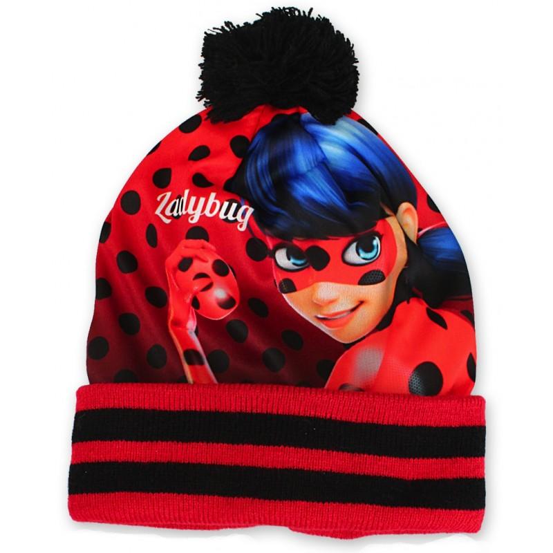51241082b53 Set čepice a prstových rukavic s motivem Kouzelná beruška (Ladybug)