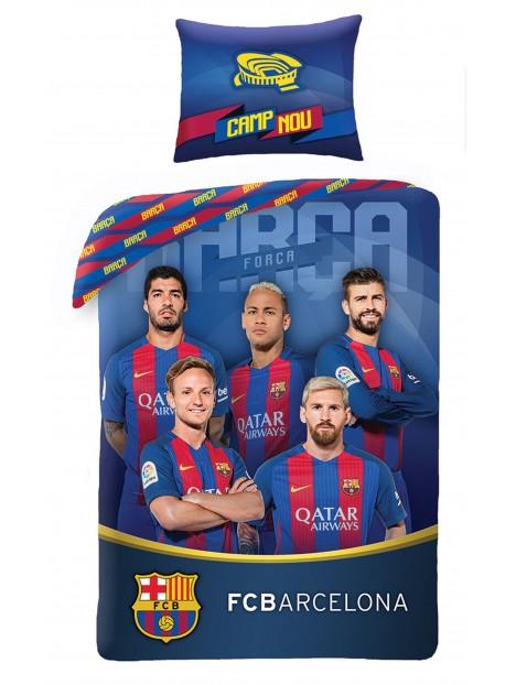 7e53b1a8c1f8b Bavlnené posteľné obliečky FC Barcelona - foto hráčov I.