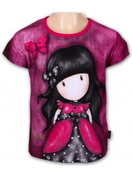 Dívčí tričko Santoro London - Gorjuss s krátkým rukávem - růžové