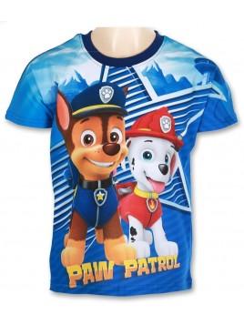 Chlapecké tričko s krátkým rukávem Tlapková patrola - tm. modré