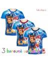 Chlapecké tričko s krátkým rukávem Tlapková patrola - modré