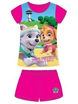 Dívčí pyžamo Tlapková patrola (Paw-Skye) - tm. růžové