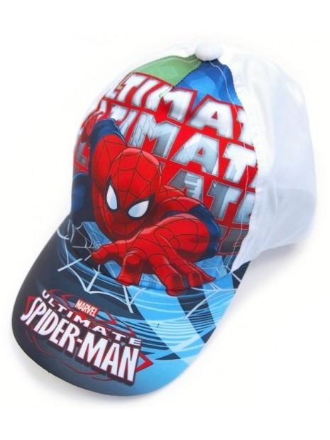 Chlapčenská šiltovka Spiderman - biela