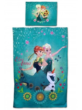 Bavlnené obliečky s Annou a Elsou Ľadové kráľovstvo (Frozen 2)