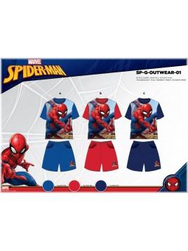 Chlapecký letní set Spiderman - sv. modrý