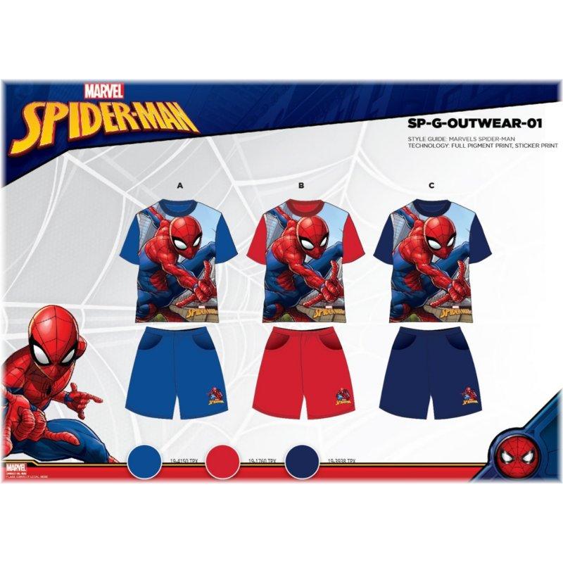 ... Chlapčenský letný set Spiderman - sv. modrý 6bbc442c0b0