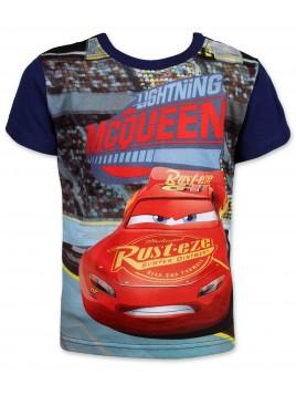 Chlapecké tričko s krátkým rukávem Auta McQeen (Cars) - modré
