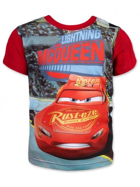 Chlapecké tričko s krátkým rukávem Auta McQeen (Cars) - červené