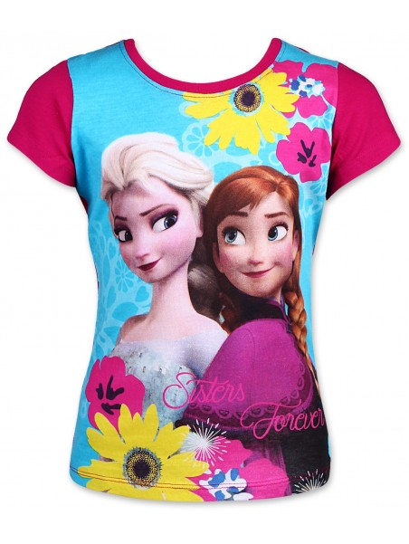 Dievčenské tričko s krátkym rukávom Ľadové kráľovstvo (Frozen) - ružové
