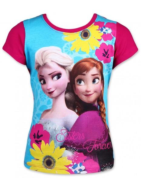 Dívčí tričko s krátkým rukávem Ledové království (Frozen) - růžové
