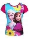 Krásne dievčenské tričko s krátkym rukávom vyrobené zo 100% bavlny s motívom pokračovania Ľadového kráľovstva Sisters Forever (Frozen 2). Prednú stranu zdobí obrázok princezien Anny a Elsy s kvetinami, zadná strana je tmavo ružová. Tototričko je opatrené medzinárodným certifikátom kvality Oeko-Tex Standard 100, ktorý zaručuje stálosť farieb i rozmerov a tiež to, že výrobok neobsahuje škodlivé látky. Viac informáciíTU