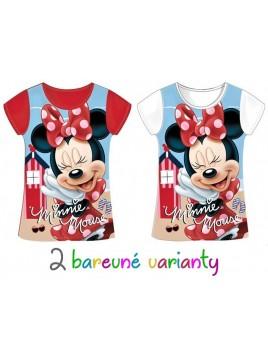 Dívčí tričko s krátkým rukávem Minnie Mouse (Disney) - červené