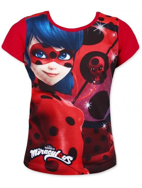 c1108ef1523 Výprodej Dívčí tričko s krátkým rukávem Kouzelná beruška (Ladybug) - červené  s třpitkami