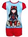 Krásná a pohodlná dívčí plážovásouprava Gorjuss Santoro London (tričko a kraťasy) vyrobená ze 100% bavlny. Tričko má krátký rukáv a přední stranu zdobí obrázek panenky, rukávy a zadní strana jsou červené.Šortky mají v pase gumu a dvě kapsy. Tato souprava je opatřenamezinárodnímcertifikátem kvality Öeko-Tex Standard 100, který zaručuje stálost barev i rozměrů a také to, že výrobek neobsahuje škodlivé látky. Více informacíZDE