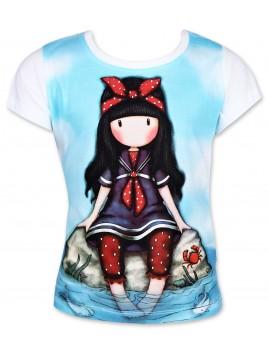 Dívčí tričko Gorjuss Santoro London s krátkým rukávem - bílé