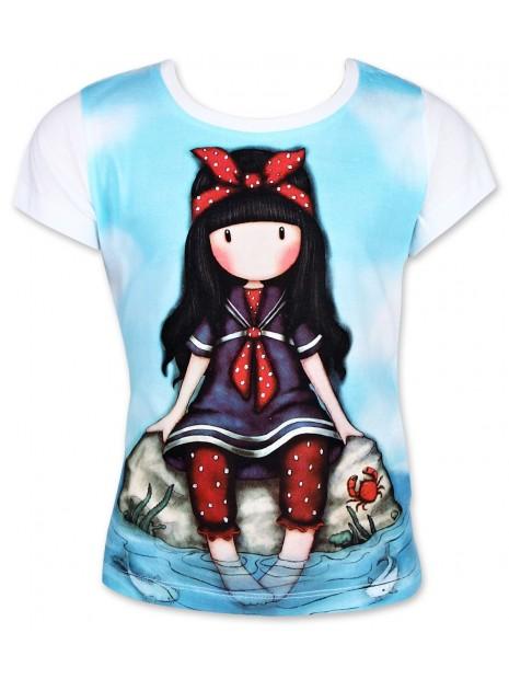 Dievčenské tričko Gorjuss Santoro London s krátkym rukávom - biele