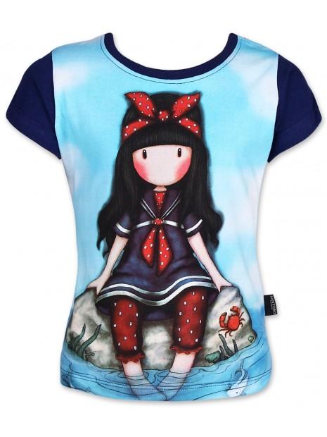 Dívčí tričko Gorjuss Santoro London s krátkým rukávem - tm. modré