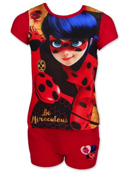 Dívčí letní set Kouzelná beruška (Ladybug) - červený