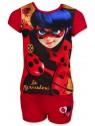 Dievčenský letný set Čarovná lienka (Ladybug) - červený