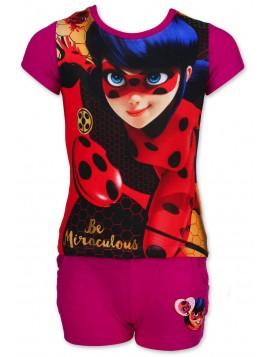 Dievčenský letný set Kúzelná lienka (Ladybug) - fialový