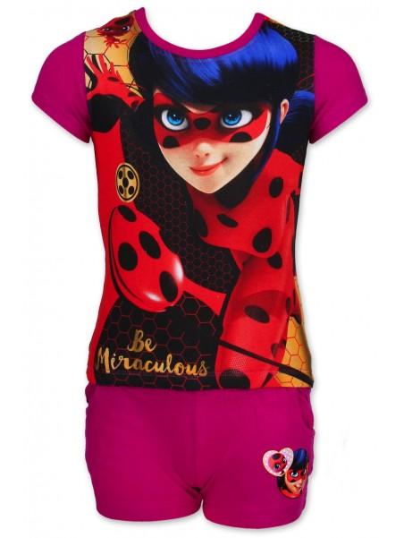Dívčí letní set Kouzelná beruška (Ladybug) - fialový